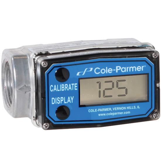 Force Flow Calibration: Cole Parmer Flowmeter Totalizer 0 3 3 GPM 1 NPT F Aluminum