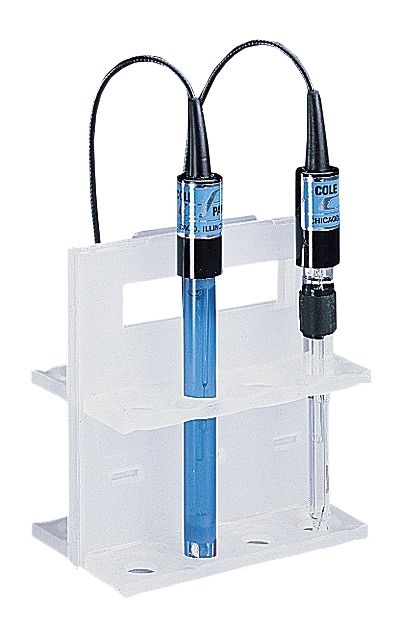 Electronic Test Equipment Racks : Ph electrode rack polypropylene holds from davis instruments