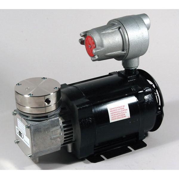 Knf Explosion Proof Motor Vacuum Pump 316ss Ptfe 0 6 Cfm