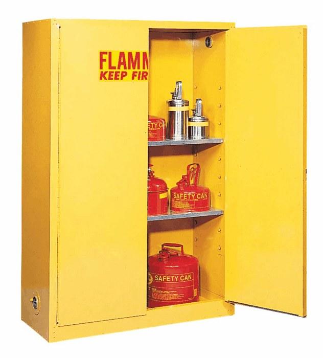 Flammable Storage Cabinet Self Closing Doors 90 Gallon