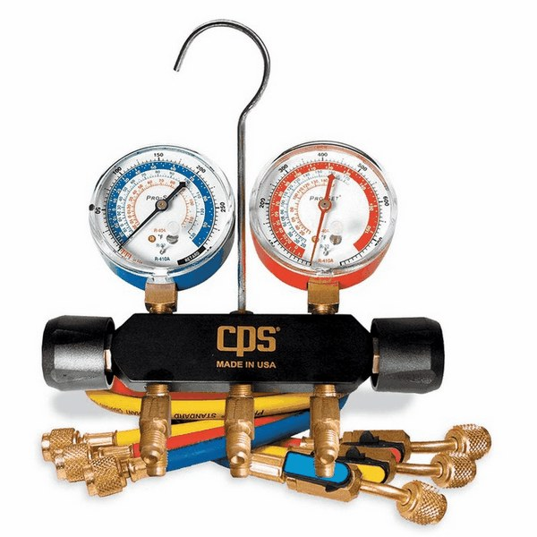 Electrical Wire Gauge Measuring Tool Digital Manifold: Black Max Professional A C Manifold Set 5 Valve Hoses Psi