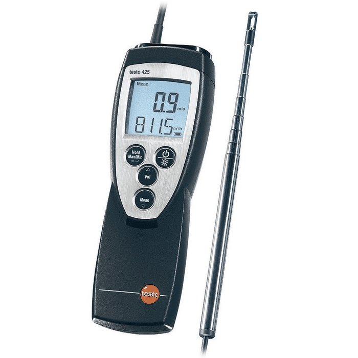 Testo 425 Hot Wire Anemometer Kit with telescoping sensor from Davis ...