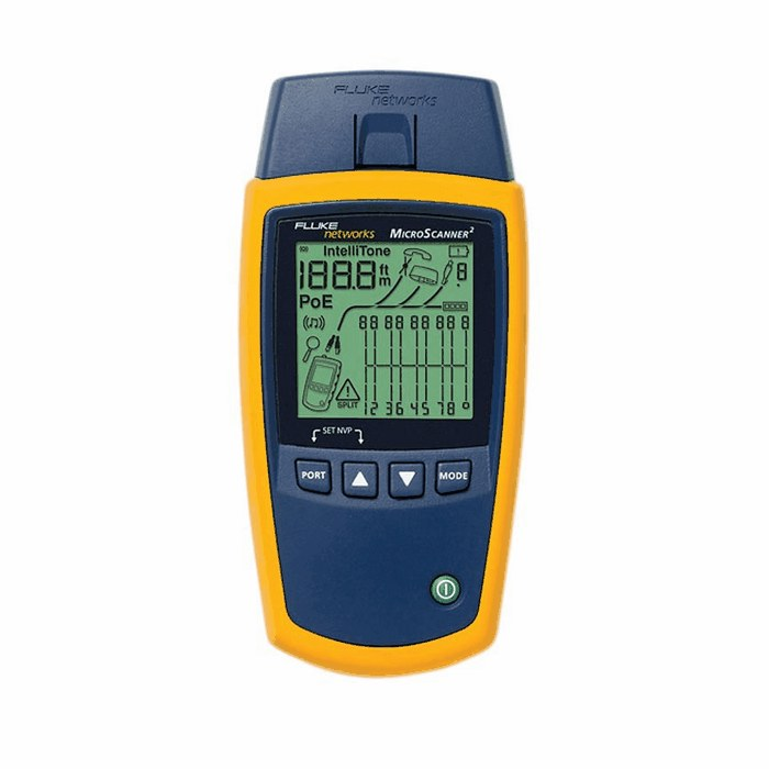 Fluke networks ms2 100 microscanner cable verifier from for Canape network testing tool