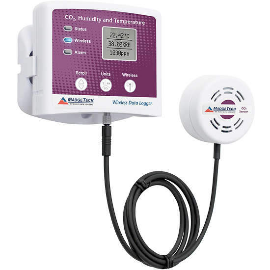 Wireless Temperature Logger : Madgetech rfco rhtemp a wireless co humidity and