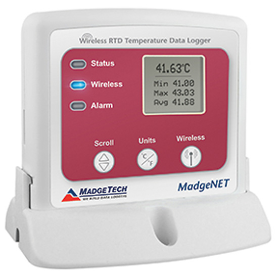 Wireless Temperature Logger : Madgetech rfrtdtemp a wireless data logger for rtds