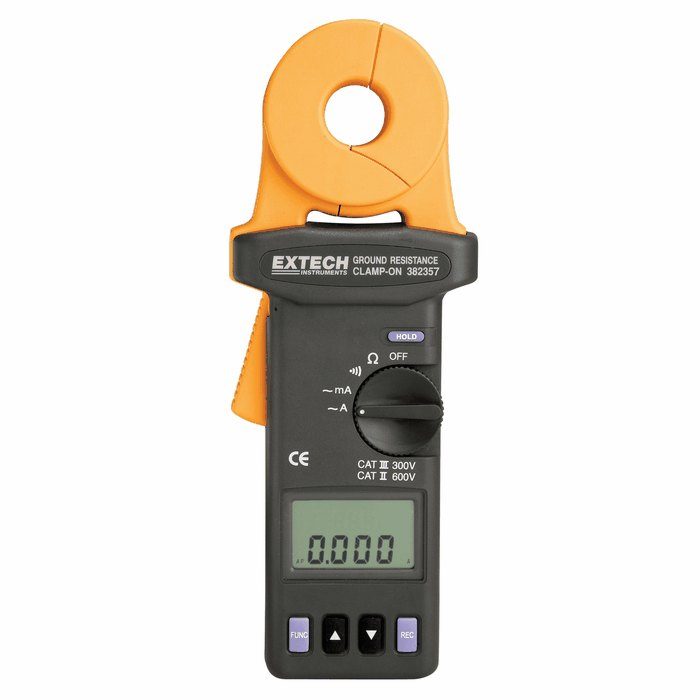 Extech Earth Resistance Tester : Extech clamp on ground resistance tester from davis