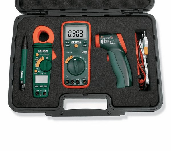 Electrical Clamp Meter : Extech true rms multimeter clamp meter and ir thermometer