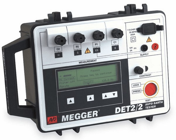Ground Impedance Tester : Megger ground resistance tester from davis instruments