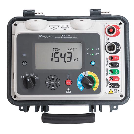 Digital Low Resistance Ohmmeters : Megger dlro low resistance digital ohmmeter vac