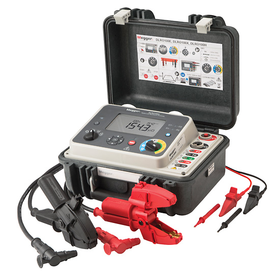 Megger Dlro100 Low Resistance Digital Ohmmeter With Remote Control 115 Vac From Davis Instruments