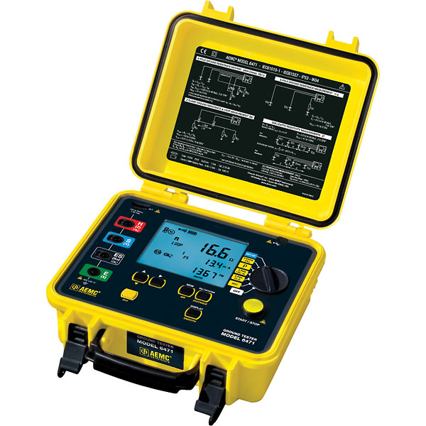 Ground Impedance Tester : Aemc ground resistance tester point bond test w