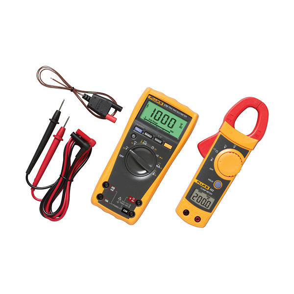 Fluke Multimeter Clamp On : Fluke imsk industrial multimeter kit dmm tl test