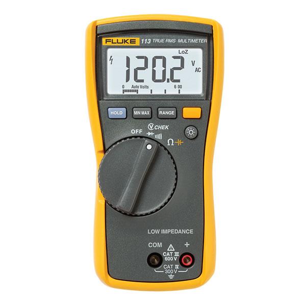 Product Digital Multimeter : Fluke general purpose true rms digital multimeter from