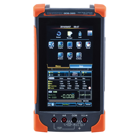 Portable Digital Oscilloscope : Instek gds portable digital oscilloscope mhz