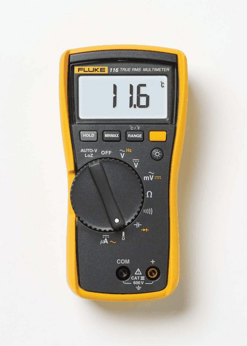Moisture Probe For Fluke Multimeter : Fluke hvac digital multimeter w temperature from davis