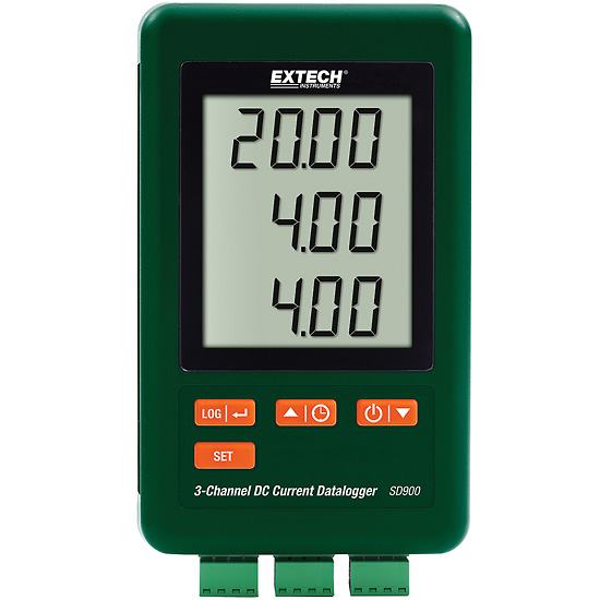 16 Channel Temperature Data Logger Voltage : Extech sd three channel dc current data logger from