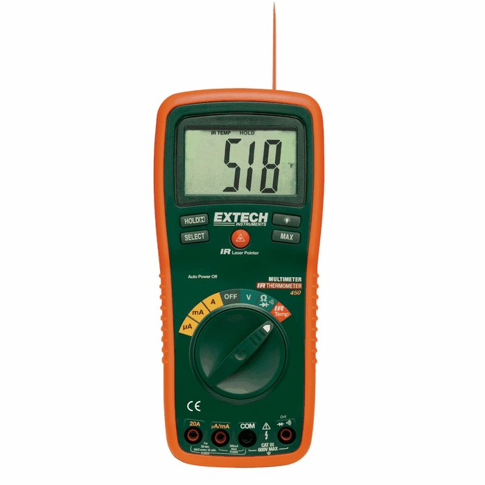 Extech Digital Multimeter : Extech multimeter with infrared temperature from davis