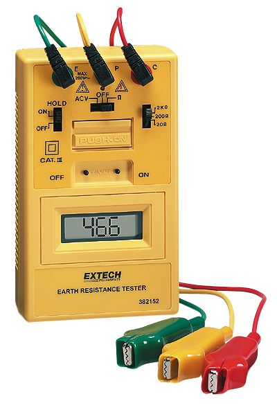 Ground Impedance Tester : Earth ground resistance tester kit from davis instruments