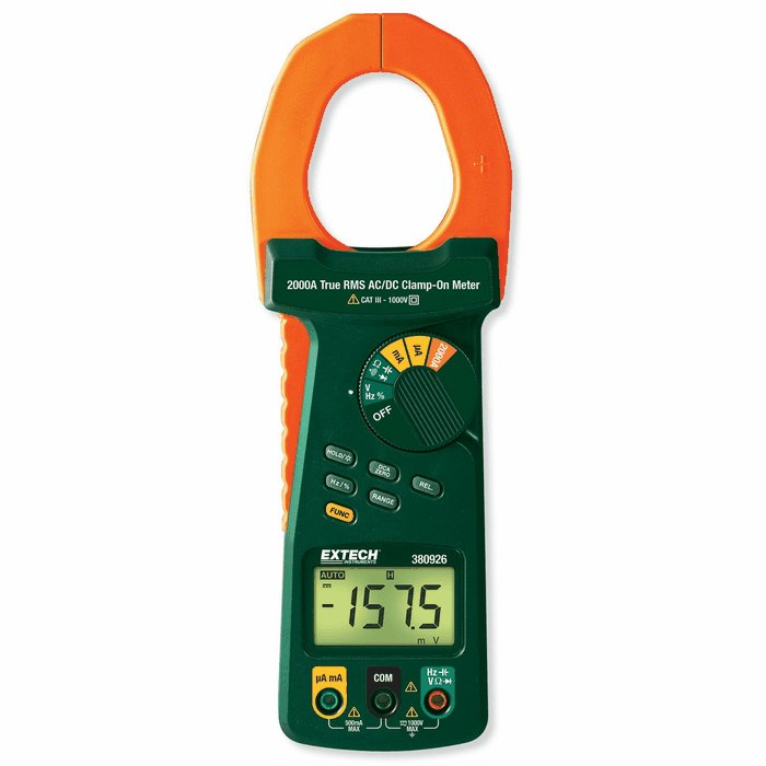 Extech Digital Clamp Meter : Extech a true rms digital multimeter and dc ac
