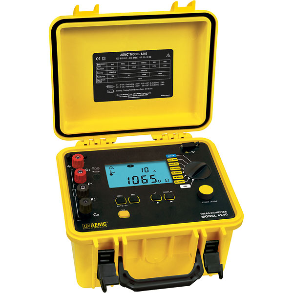 Digital Ohm Meter : Aemc amp micro ohmmeter to from davis