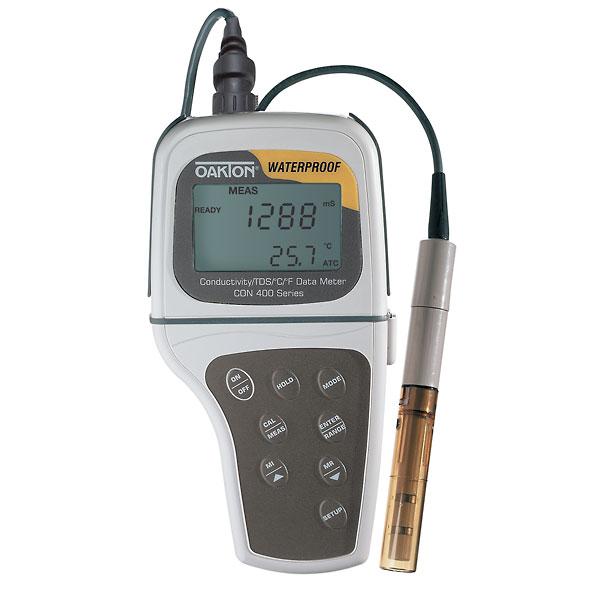 Oakton Conductivity Meter : Oakton waterproof con handheld conductivity tds meter