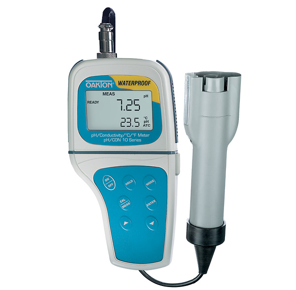 Waterproof Ph Meters : Oakton waterproof ph con meter with conductivity