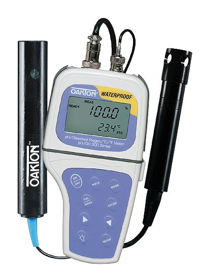 Waterproof Ph Meters : Oakton waterproof ph do meter with probes from davis