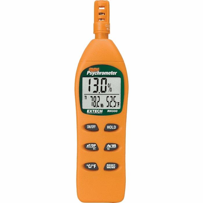 Extech Rh300 Digital Psychrometer 0 To 100 Rh 4 To 122f