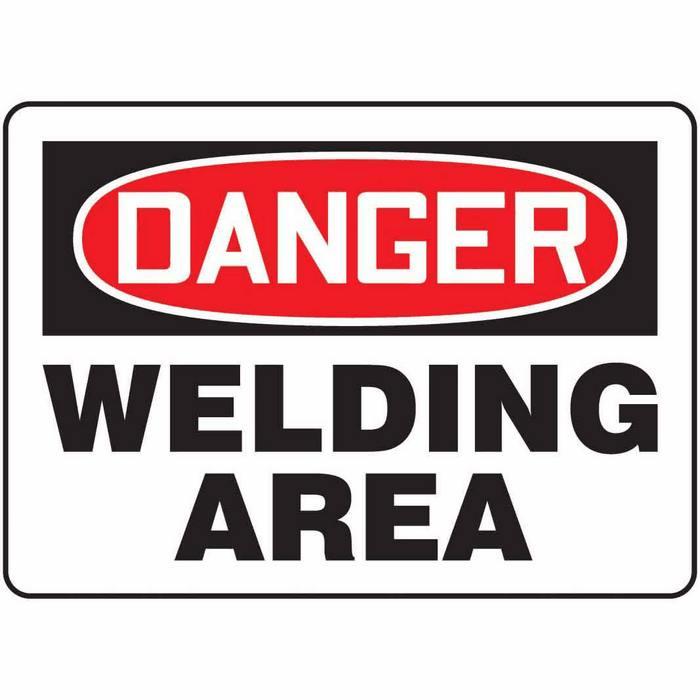 Safety Sign Danger Welding Area 7 X 10 Aluminum From Davis