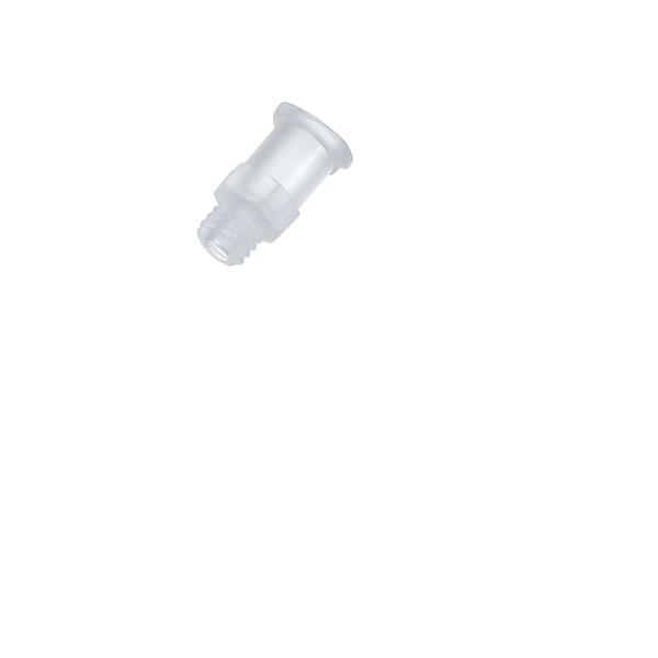 Cole-Parmer ADCF Male Luer to 1//8 L Barb Adapter PP 25//pk