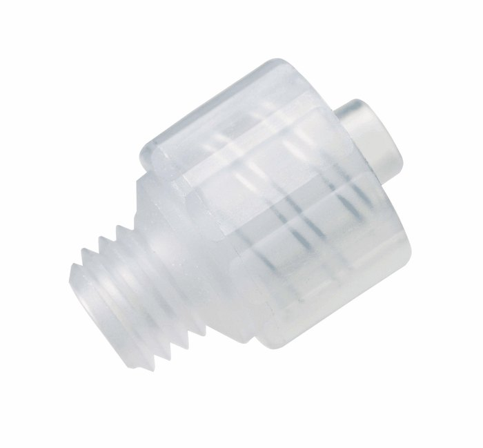 Adapter polypropylene male luer lock to unf thread