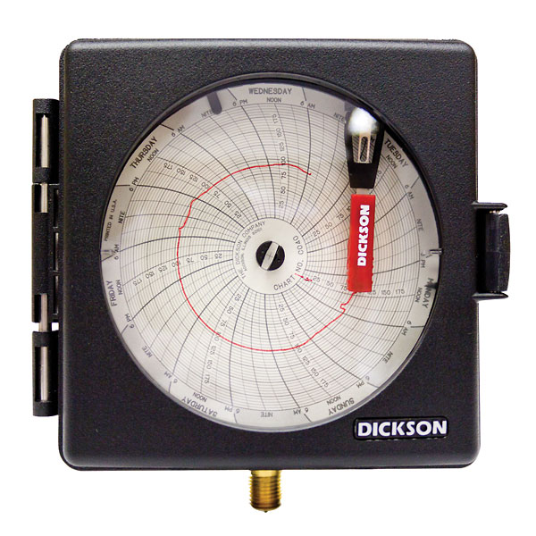 Pressure Chart Recorders : Dickson pw pressure chart recorder to psi from