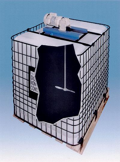 Right Angle Mixer : Low profile right angle ibc tote mixer rpm hp air