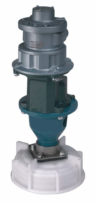 Mixer bulk container hp air driven motor from davis
