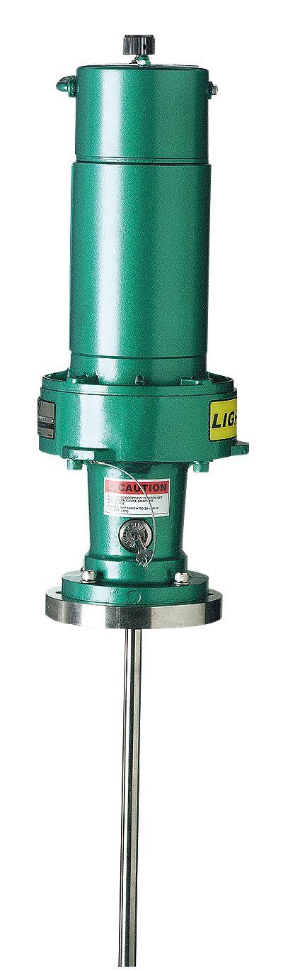 Lightnin direct drive pressure batch mixer air rpm