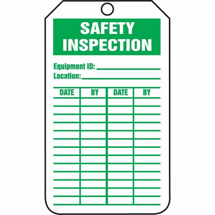 Tag Safety Inspection 5 7 8 X 3 3 8 Rv Plastic From Davis