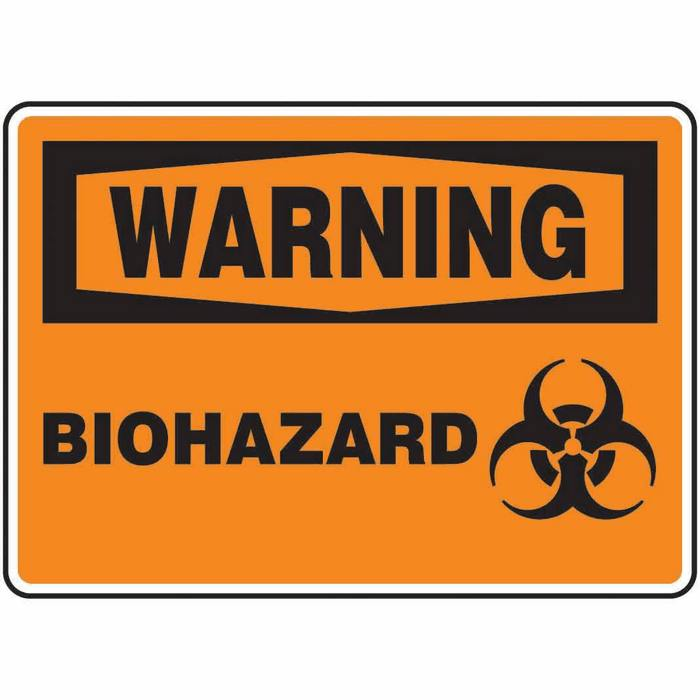 Safety Sign Warning Biohazard 10 X 14 Adhesive Vinyl From Davis