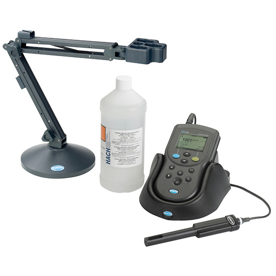 Digital Conductivity Meter : Hach hq d digital conductivity meter kit from davis