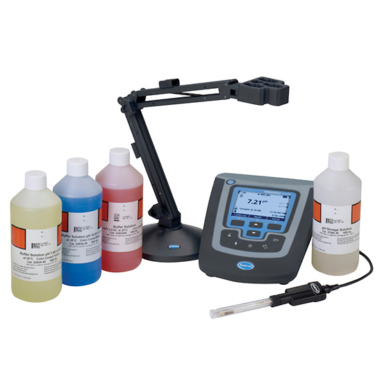 Hach Ph Meter : Hach hq d digital ammonia bench meter kit from davis