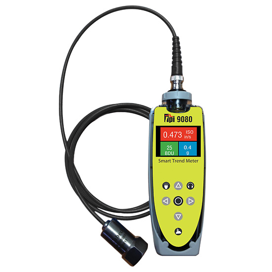 Tpi Test Instruments : Tpi vibration meter with accelerometer magnet sensor