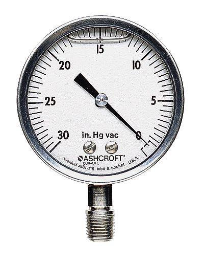 30 to 0 hg ashcroft filled high accuracy gauge 2 1 2 dial