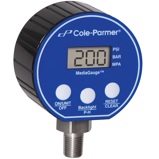 2.5 Dia 316SS Diaphragm; 0 to 100 psi 2.5 Dia AO-68082-08 Cole-Parmer Industrial Pressure//Process Gauge