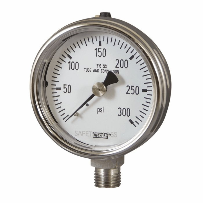 Fork Lift Gauge : Industrial stainless steel gauge to psi from davis
