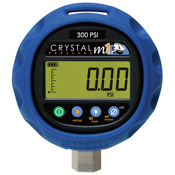 Crystal M1 Digital Pressure Gauge, 0 to 3000 psi