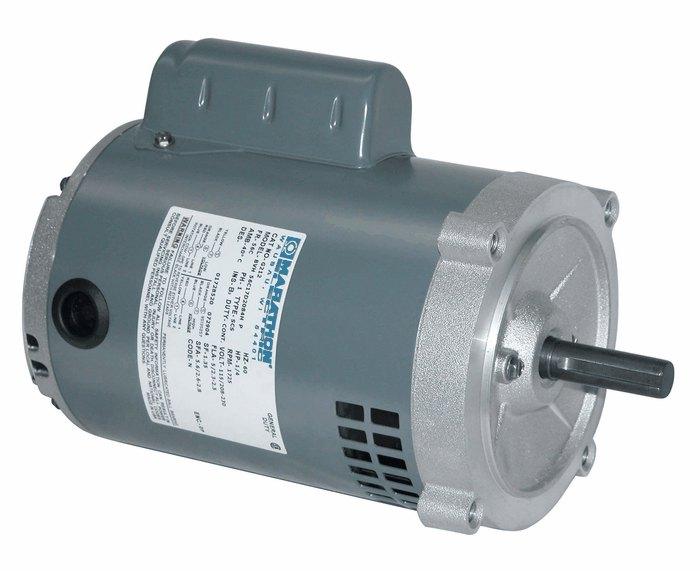 Single phase odp motor 56c 0 33 hp 3600 rpm 115 208 230 v for Large single phase motors