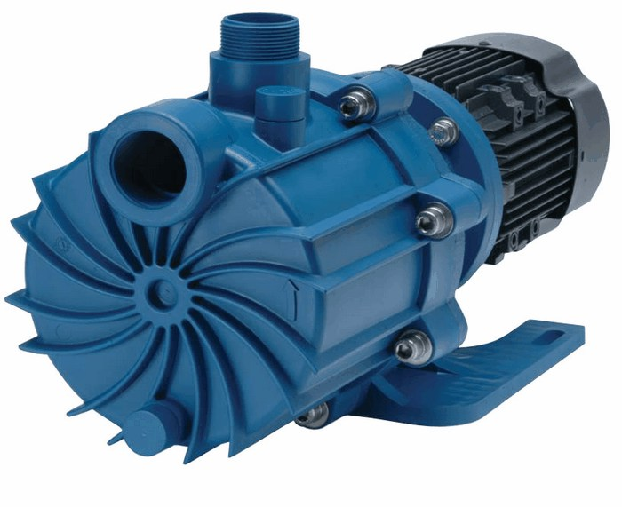Pvdf Magnetic Drive Self Priming Centrifugal Pumps 89gpm