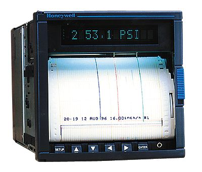 Honeywell dpr100 100 mm continuous pen chart recorder 3 channels