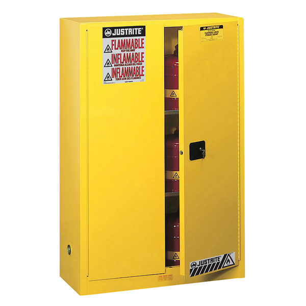 Marvelous Justrite 894520 Flammable Storage Safety Cabinet 45 Gallons Self Closing  Door