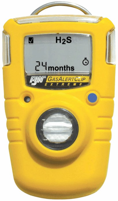Data Loggers And Natural Gas Detectors : Gasalert extreme single gas detector hydrogen sulfide with