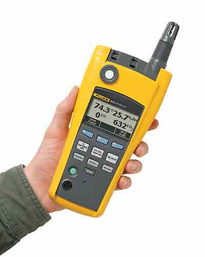 Moisture Probe For Fluke Multimeter : Fluke airmeter indoor air quality meter with